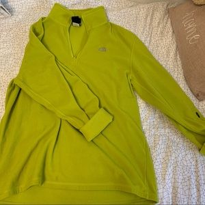 Lime Green North Face Fleece Hoodie